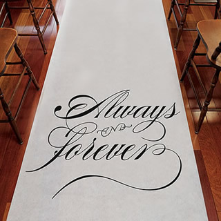 wedding aisle runner