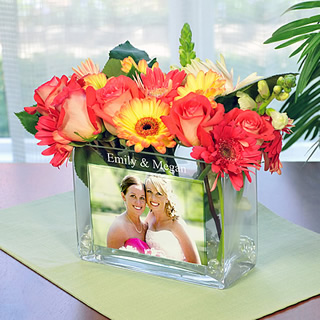 Personalized Wedding Photo Vase